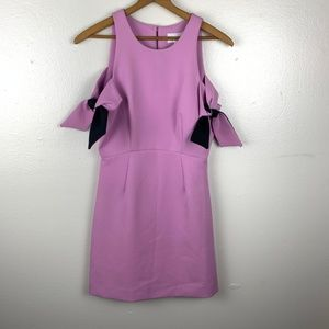 NWT Milly Madison Purple Cold-Shoulder Dress 4